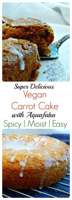 A really easy carrot cake recipe that just happens to be vegan!  By subbing Aquafaba (aka chickpea brine) this cake is egg free!  Moist, with a soft crumbly crumb, this cake recipe is bound to please almost everyone!