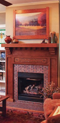 The fireplace I'd rather have.  From a Craftsman Style Home, Tallahasse FL. Photo by Long's Photography