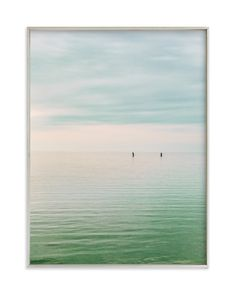 """Hushed Horizon"" - Art Print by Keely Norton Owendoff in beautiful frame options and a variety of sizes."