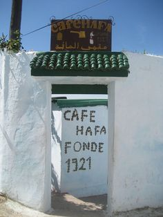 Café Hafa, Tangier, Morocco. Visited by writers and singers such as Paul Bowles, William S. Burroughs, The Beatles and the Rolling Stones.