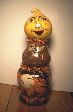 Gourd Halloween totem