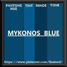 Pantone Seasonal Color Swatch Mykonos Blue Indigo Teal Star