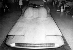 GHIA Torino: a wooden model of Lincoln Futura