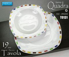 SERVIZIO PIATTI QUADRATO PORCELLANA BAVARIA 19 PEZZI http://stores.ebay.it/GM-CASA-STORE