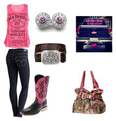 """""""Untitled #40"""" by mamartin55 on Polyvore featuring Levi's, Twisted X Boots and Ariat"""