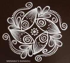 Special Rangoli, Rangoli Patterns, Rangoli Designs With Dots, Simple Rangoli, Ganesha, Cards, Ganesh, Maps, Playing Cards
