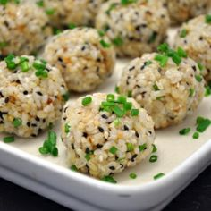 Rice balls... don't judge me because you can't say that these don't look dericious!