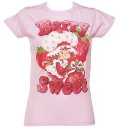 Ladies Pink Berry Sweet Strawberry Shortcake T-Shirt : TruffleShuffle.com
