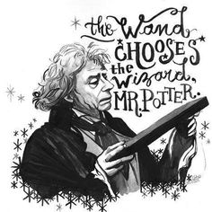 The wand chooses the wizard, Mr. Potter.
