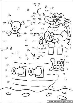 Actividades para niños preescolar, primaria e inicial. Fichas para niños para imprimir con dibujos para unir los puntos numerados para niños de preescolar y primaria. Unir puntos numerados. 7