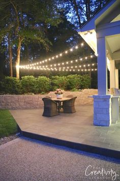 Give one of these DIY deck lighting ideas a try on your porch or patio this season. These unique outdoor lighting projects are sure to add character and brighten any space. - Deck Lighting Ideas - DIY Ideas to Brighten any Outdoor Space Backyard String Lights, Outdoor Hanging Lights, Backyard Lighting, Garden Lighting Ideas, Solar Patio Lights, Lights On Deck, How To Hang Patio Lights, Outside Lighting Ideas, Solar String Lights