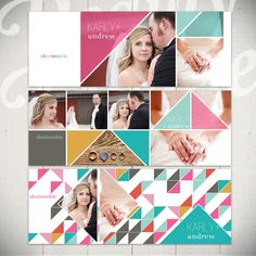 Facebook Timeline Cover Templates: Love Triangle - 3 Facebook Covers by Beauty Divine on Etsy