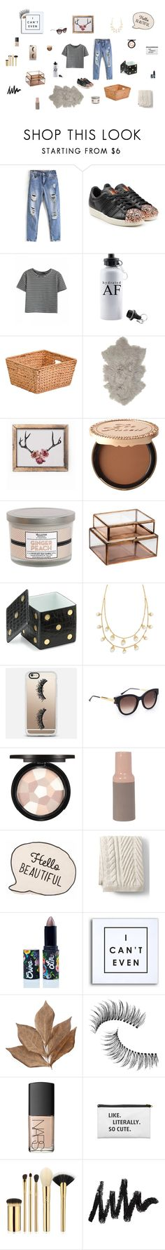 """Hello Fall"" by akilahdavis ❤ liked on Polyvore featuring adidas Originals, Honey-Can-Do, Broste Copenhagen, Too Faced Cosmetics, Vineyard Hill Naturals, NKUKU, L'Objet, Tory Burch, Casetify and Thierry Lasry"