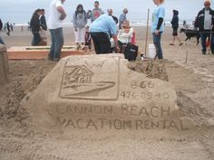 Sand Castle Contest is coming. #cannonbeach #sandcastle #fun #beach #summer