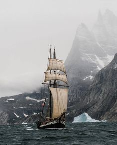Ship Sailing in Frozen Water Tall Ships, Bateau Pirate, Old Sailing Ships, The Grisha Trilogy, Naval, Sail Away, Lighthouse, Ocean, World