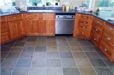 counter top to match current Slate Kitchen Floor Designs