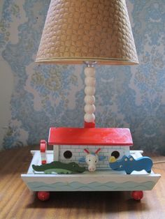 Vintage Irmi Child's Lamp  Noah's Ark Baby Nursery by SoSylvie, $20.00