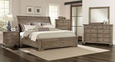 Whiskey Barrel Storage Bedroom Set (Rustic Gray) Vaughan Bassett | Furniture Cart