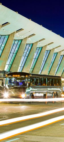 Washington/Dulles International Airport, Chantilly VA.  Info about Washington Flyer Coach Service.