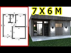 Casa 7 x 6 m / House 7 x 6 m - YouTube Small Loft Apartments, Simple Floor Plans, Low Cost Housing, Container Shop, House Construction Plan, Luxury Kitchen Design, Girl Bedroom Designs, Small House Design, Home Design Plans
