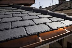 Ardesia. Brenva is a flat slate roof tile with extraordinary characteristics.  It is ideal to make roofings that are natural, light, beautiful and long-lasting.  With Brenva your roof is forever!  #ardesia #roof Brenva by B&B Natural Coverings