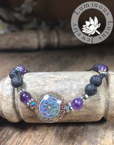#colorchanging #lavabracelet https://www.etsy.com/listing/600230266/flower-mandala-color-changing-bracelet