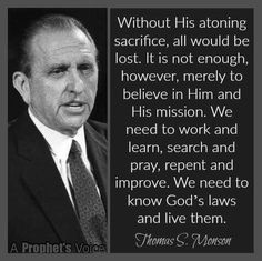 ~President Thomas S. Gospel Quotes, Mormon Quotes, Lds Quotes, Religious Quotes, Uplifting Quotes, Great Quotes, Lds Mormon, Spiritual Thoughts, Spiritual Quotes