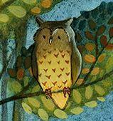Owl detail from Campfire Children's Illustration by Emma Allen