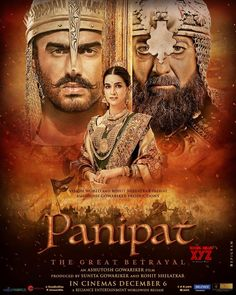 Panipat movie is the historical upcoming 2019 bollywood movie whose trailer, release date, cast and summary is all here. Watch Panipat movie Trailer here- Movies 2019, New Movies, Movies Online, Upcoming Movies, Movies Box, Z Movie, Movie Plot, Arjun Kapoor, Hindi Movies
