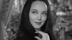 """More Screen Caps (from the early part of season one) of the delightful Carolyn Jones as Morticia Addams. Below they're from the episode """"Wednesday Leaves Home"""" If you need MORE go… Carolyn Jones, Morticia Addams, The Addams Family 1964, Die Addams Family, The New Yorker, Los Addams, John Astin, Charles Addams, Tv Moms"""
