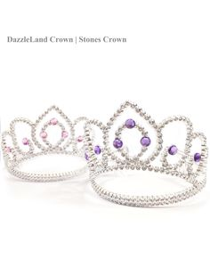 Gems tiara crown// Hair accessory// Princess crown// Birthday party headdress// Party accessory//  Photo prop by DazzleLand on Etsy