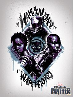 2822d5921 Black Panther | Wakandan Warriors Graffiti Poster This post contains  affiliate links, which means I
