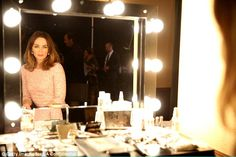 Dressing room: The beauty gave birth to her daughter Hazel just nine months ago