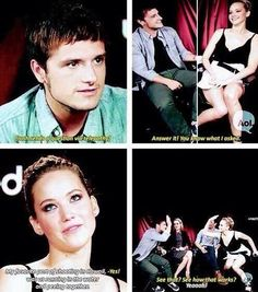 funny jennifer lawrence and josh hutcherson interviews - Buscar con Google