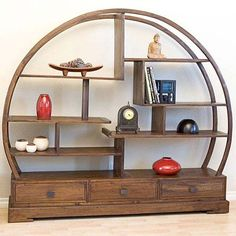 so cool - this would be a really neat bookshelf, and with the open shelf ends you would be able to use all the awesome bookends you can find!