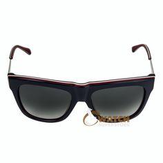 Marc Jacobs MMJ293S07V5 Women's Wayfarer Blue Red White Red Frame Gray Gradient Lenses Sunglasses