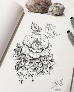 Flowers tattoo art tatuajes de rosas, tatuajes pierna и dibujos para tatuar Dotwork Tattoo Mandala, Arm Tattoo, Body Art Tattoos, Sleeve Tattoos, Female Tattoos, Tattoo Art, Tatoos, Flower Tattoo Designs, Flower Tattoos