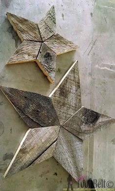 How to Make Rustic Pallet Stars - quick and easy way to make 2 different sizes of wood scrap stars - Made to Be a Momma