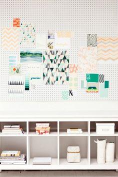 DIY: Placas de agujeros para organizar y colgar todo lo que se te ocurra