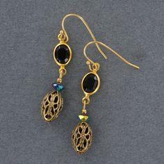 Sadie Green's Crystal & Filigree Earring
