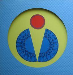 """E. Besozzi pitt. 1974 Composizione idropittura e collage su tela cm. 50x50 arc. 139 Bibliografia:  Baj, catalogo """"studio a"""", Milano 1975 Baj, Kaisserlian, Mastrolonardo, Radice, Fagnoni,Fontana, monograf. """"Besozzi"""" 1977 Dangelo, pref. pieg.,1979 A. Beolchi, F. Gualdoni, monogr. """"Besozzi"""" 1996 Mastrolonardo, pref. pieg., 2004 Esposizioni: 1975 Gall """"studio a"""",Milano 1977 Palazzo dell'Arengario, Milano 1979 Gall """"Il Paladino"""", Cormanno, 2001 Scuola di Corgeno, 2004 Ex cotonificio Cantoni…"""