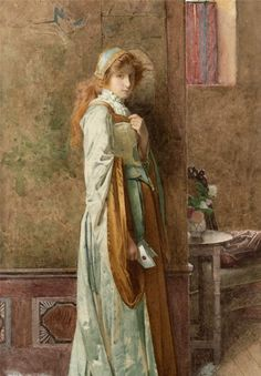 The Love Letter 1900 - Carlton Alfred Smith - (British: 1853-1946)