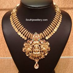 Antique Necklace - Page 5 of 22 Latest Indian Jewelry - Jewellery Designs Latest Gold Jewellery, Real Gold Jewelry, Gold Jewellery Design, Indian Jewelry, Bridal Jewellery, Handmade Jewellery, Silver Jewellery, Wedding Jewelry, Coin Necklace