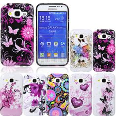 Flower Patterned Gel Rubber Case Cover For Samsung Galaxy Core Prime Prevail LTE #UnbrandedGeneric