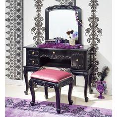 Black vanity set