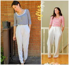 Up cycle : Daring white pants