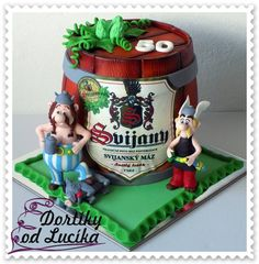Cake Asterix And Obelix Disney Princess Castle, Viking Dragon, The Duff, Frosting, Fondant, Deserts, Food And Drink, Birthday Cake, Vikings