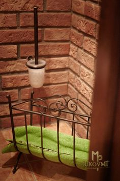 Schmiedeeiserner WC-Bürstenhalter