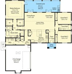 Beautiful Craftsman Ranch House Plan 9215 Features 2 910 Square Feet Of Exceptional Living Space
