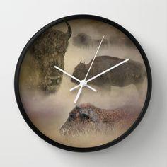 Buffalo Dreams - Wildlife  Wall Clock by Jai Johnson - $30.00